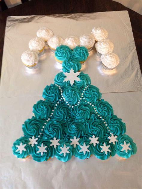 frozen elsa dress cupcake cake baking pinterest