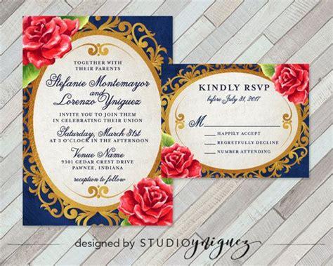 beauty   beast fairy tale printable wedding