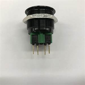 Momentary Push Button Switch  Black