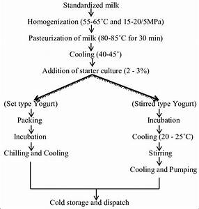 Processing Of Set And Stirred Yogurt Fig  1  Processing Of