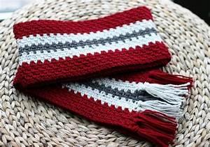 Vertical Stripe Crochet Scarf (Unisex) | Crochet Scarves ...