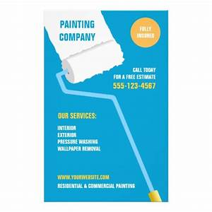 Painting company contractor flyer zazzle for Painting flyers templates free