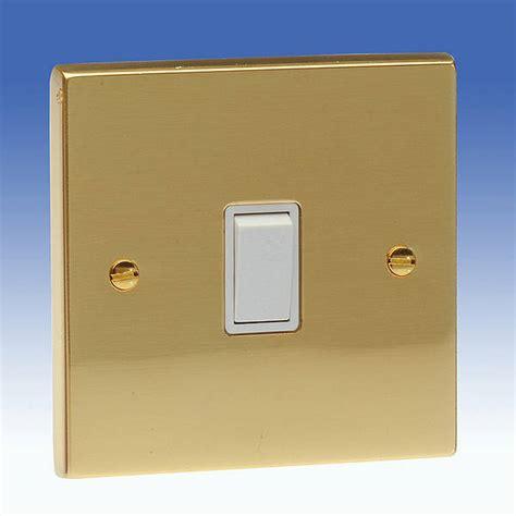 Gang Intermediate Light Switch Edwardian Brass