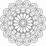 Circles Mandala sketch template