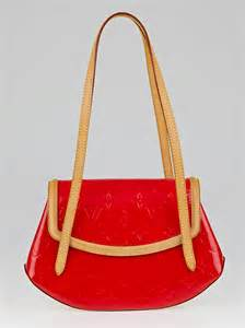 louis vuitton red monogram vernis biscayne bay pm bag
