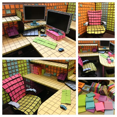 bureau post it post it office prank can 39 t imagine how this took