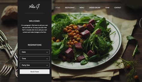 site cuisine restaurants food website templates wix
