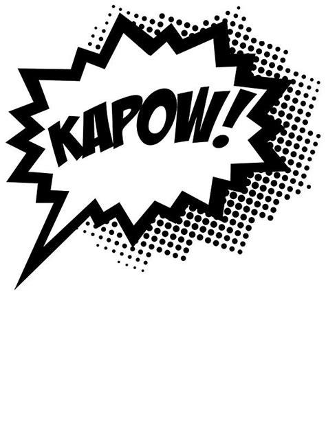 "COMIC POW! Speech Bubble, Comic Book Explosion, Cartoon"" Stickers | M2's room | Pinterest"