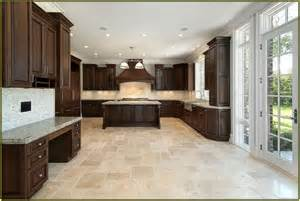 kitchen ideas cherry cabinets travertine kitchen floor home design ideas