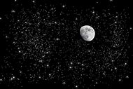 Starry Night Sky with Moon
