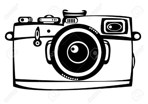 Clip Art Camera Camera Clipart Black And White Pencil And In Color
