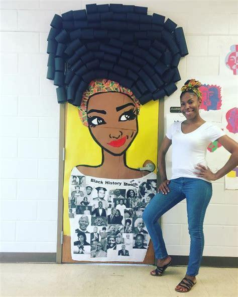 black history month teacher door decoration black