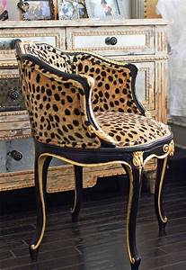 faboo leopard print vanity chair dream rooms pinterest With animal print furniture home decor