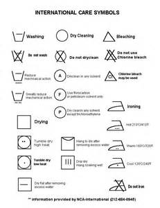 International Garment Care Symbols