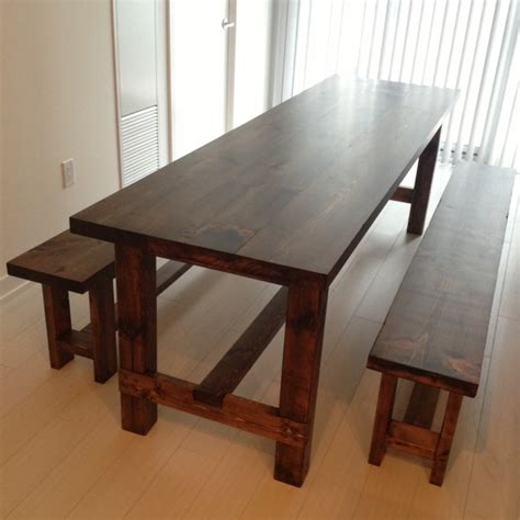 kitchen table bench plans free woodworking plans farmhouse table and bench plans pdf plans