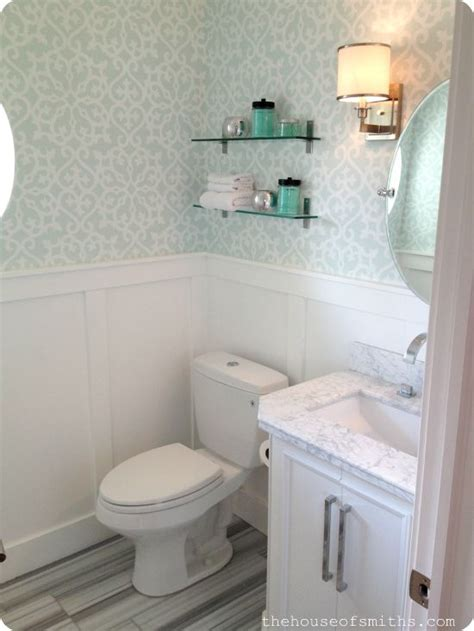 powder room  wallpaper  marble floors house