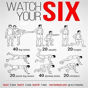 Watch Your Six  Health Fitness Sixpack Routine Training Plan Abs
