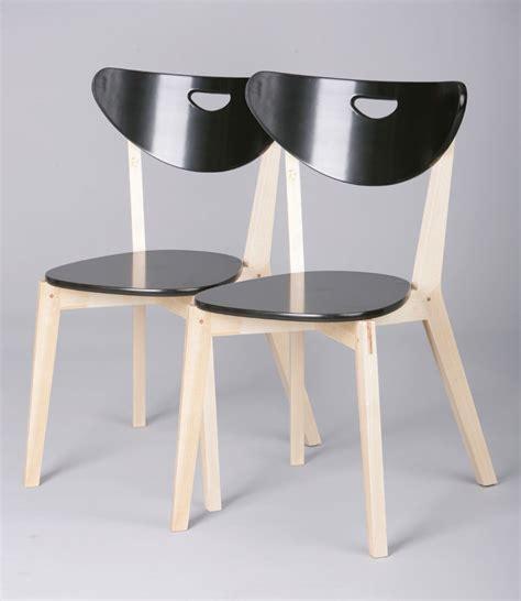 but chaises de cuisine chaises de cuisine bois massif coloris noir lot de 2