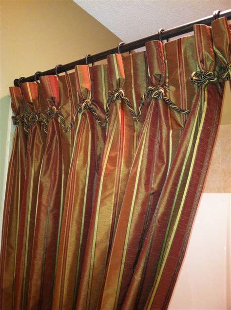 custom shower curtain detail draperies