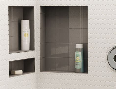 tile redi niche thinset shower pans bases shelves tile redi