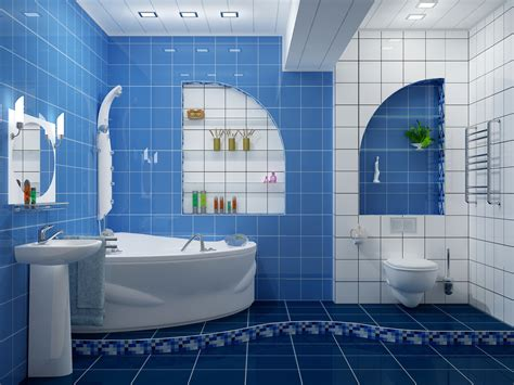 Badezimmer Fliesen Blau by 37 Small Blue Bathroom Tiles Ideas And Pictures