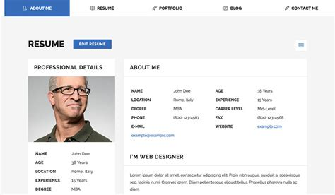Find & download free graphic resources for personal profile. 18+ Best HTML Resume Templates for Awesome Personal ...