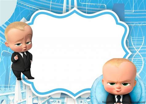 baby boss invitation template bagvania  images