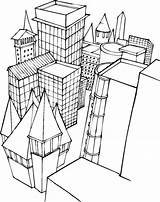 Coloring Buildings Pages Building Printable Freecoloringpagefun Popular Print sketch template