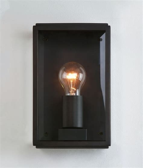 exterior wall mounted light with clear glass