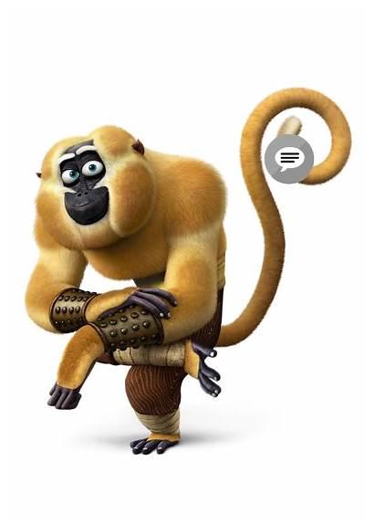 Fu Kung Panda Monkey Icon Kungfupanda Transparent