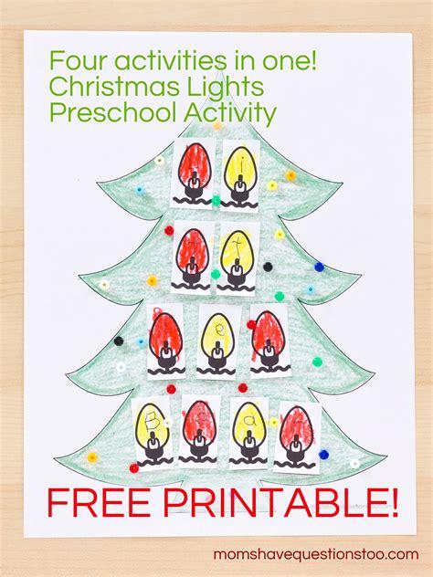 preschool activities 913 | Christmas Lights Preschool Activity Moms Have Questions Too