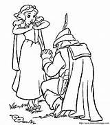 Neige Blanche Chasseur Dessin Imprimer Coloriage Biancaneve Coloring Snow Dwarfs Seven Disney Gratuit Nains Disegni Cacciatore Colorare Colorier Sept Bojanke sketch template