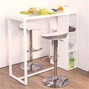 comptoir bar nolan 110 x 50 x h 120 cm With table pour cuisine etroite