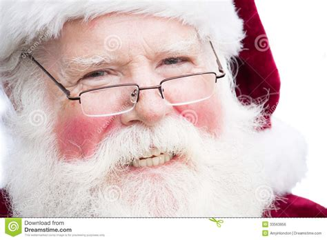 christmas santa claus  specs royalty  stock image