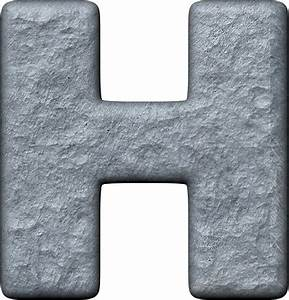 presentation alphabets rough metal letter h With metal letter h