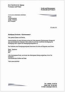 Kündigungsschreiben Wohnung Mieter : k ndigungsschreiben girokonto k ndigen vorlage muster ~ Lizthompson.info Haus und Dekorationen