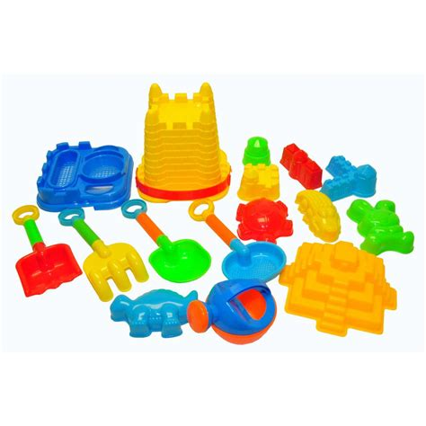 g f products justforkids beach toys for kids with reusable mesh bag castle bucket sand mold