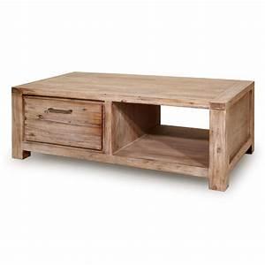 Table Basse Avec Tiroir : table basse carr e bois avec tiroir id es de d coration int rieure french decor ~ Teatrodelosmanantiales.com Idées de Décoration