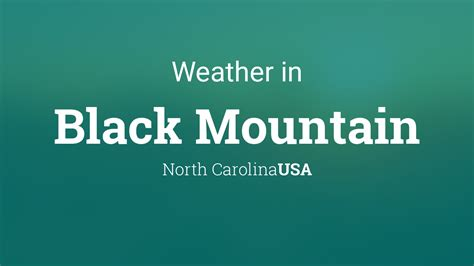 weather  black mountain north carolina usa