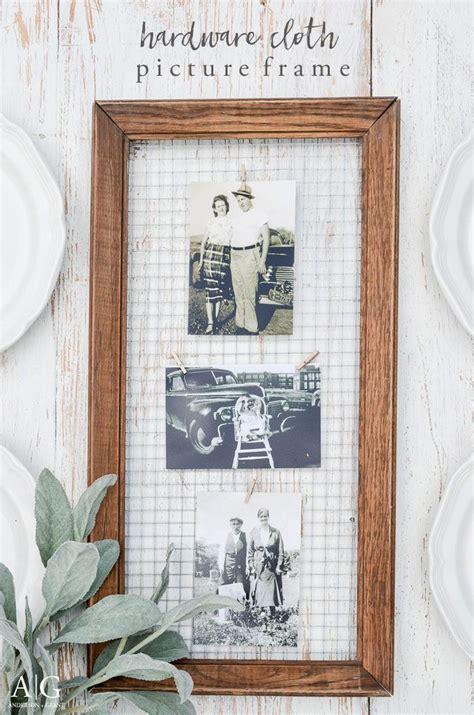 create  unique diy picture frame  display