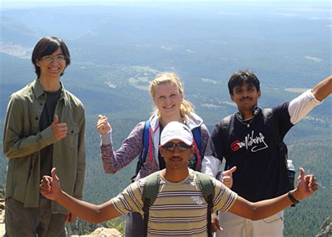 students climb legendary hermits peak nmhu
