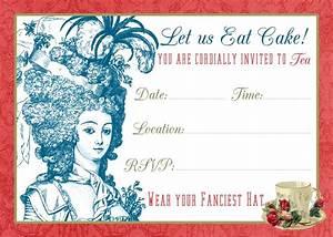 Flower Invitations Templates Free Tea Party Invite Printable Tutorial The Graphics Fairy
