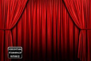 red curtains background With red and white curtain background