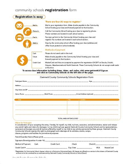 sample registration forms  word