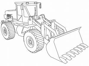 Bulldozer Coloring Pages | Wecoloringpage.com