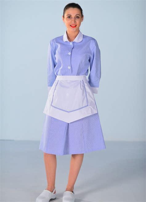 uniforme femme de chambre blouse femme de chambre bleu ciel carlton uniformes d