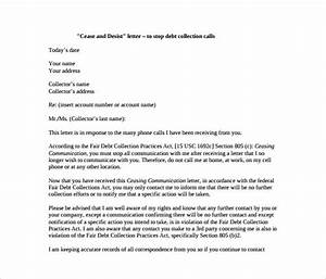 cease and desist letter template 8 free word pdf With cease and desist letter template for debt collectors