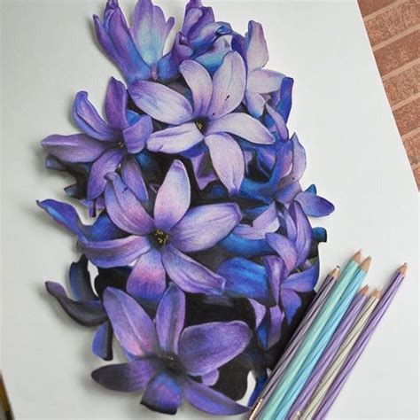 Love How These Look 3d Flowers In 2019 Color Pencil