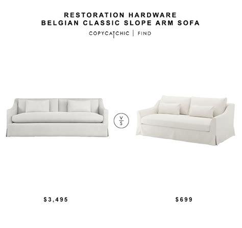 belgian slope arm sofa restoration hardware belgian classic slope arm sofa