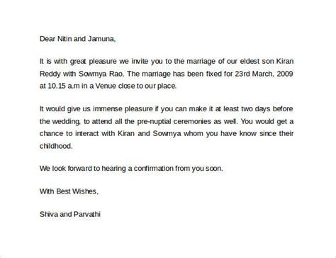 sample invitation letter    documents   word